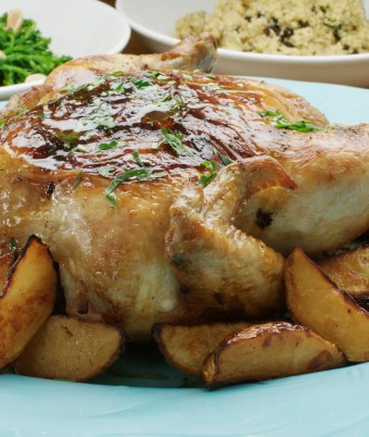 Tracy's Upside Down Chicken with Lemon and Thyme Quinoa