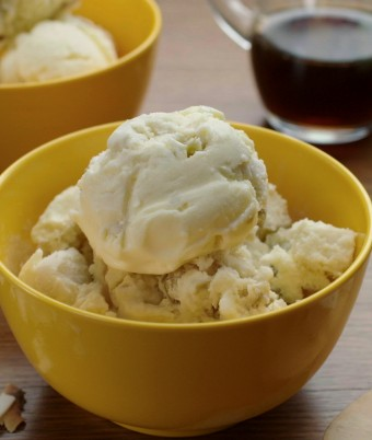 Roasted Apple and Coconut Jelly Ice Cream