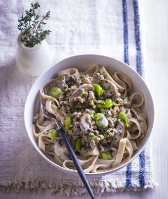 Turkey Mince Creamy Mushroom Pasta Recipe