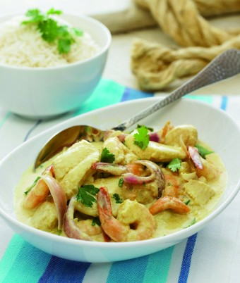 Creamy Curried Seafood