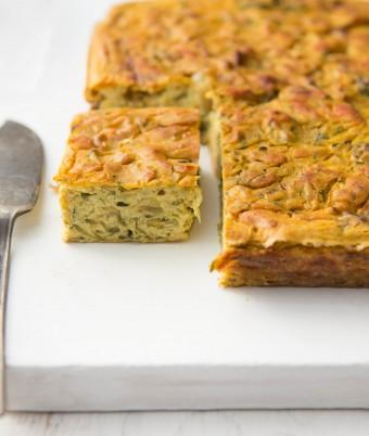 Vegan Zucchini and Kale Slice