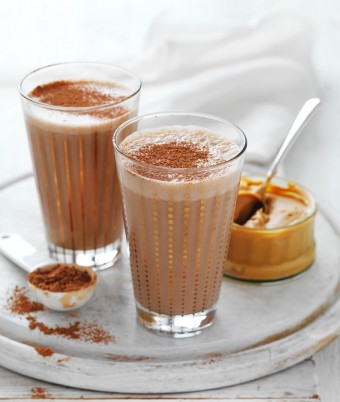 Almond Milk, Peanut butter, Cacoa and Banana Breakfast Smoothie