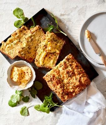 Savoury zucchini bread recipe