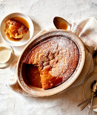 caramel self saucing pudding cake recipe