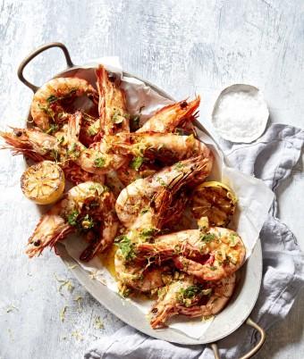 Quick BBQ prawns with Garlic and Chilli