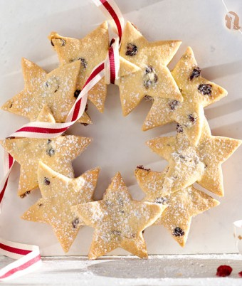 Christmas Shortbread Star Wreath Recipe