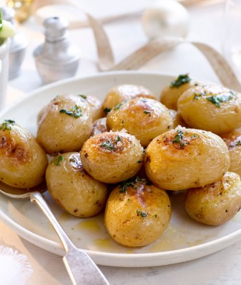Herb Butter Roasted Chat Potatoes recipe