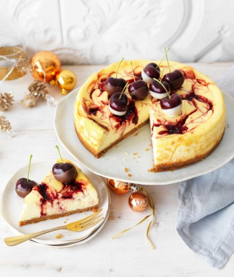 Baked Cherry Cheesecake Christmas recipe
