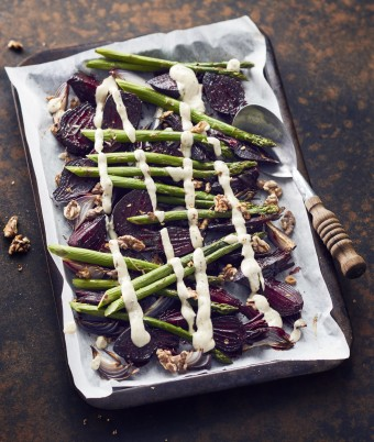 Roasted Beetroot and Asparagus Salad