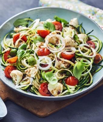 Mediterranean Zucchini Spiral Salad