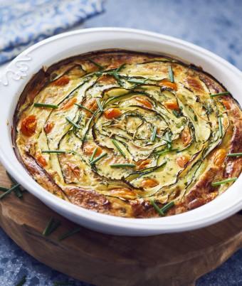 Zucchini Ribbon Frittata