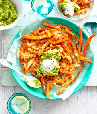 Loaded Sweet potato fries