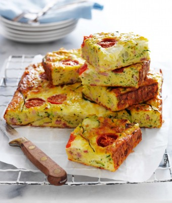 Classic zucchini slice with bacon recipe