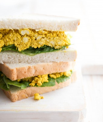 Curried eggless tofu sandwiches Recipe