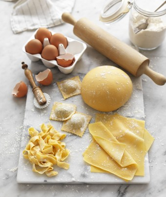 Homemade pasta dough without a machine