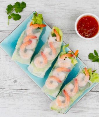 Prawn Rice paper rolls