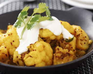Indian butter spiced potatoes and cauliflower