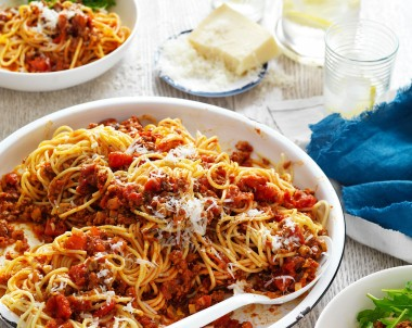 Beef and Mushroom Spaghetti Bolognese Recipe