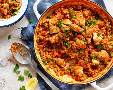 Chicken, Tomato and Chorizo Spanish-Style Rice Ardmona Recipes