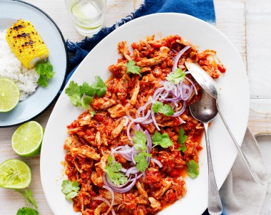 Mexican Slow-Cooked Tomato Pulled Chicken recipe