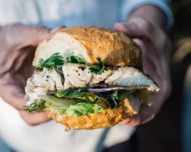 BBQ Australian barramundi burger