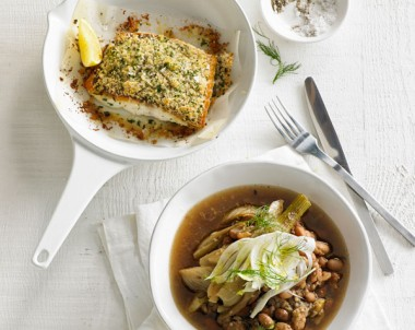 Snapper, Pinto Beans, Fennel