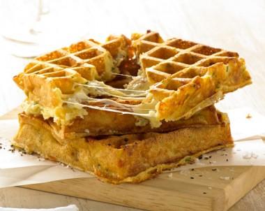 Three Cheese Souffle Waffle