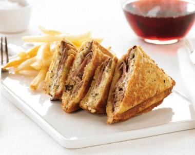 Wagyu Roast Beef, Radicchio and Creme Fraiche Jaffle