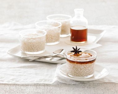 Coconut Tapioca Pudding With Star Anise Syrup