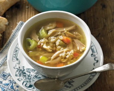 Winter Chicken and barley soup recipe