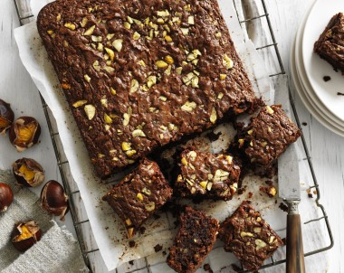 Chestnut puree brownie recipe