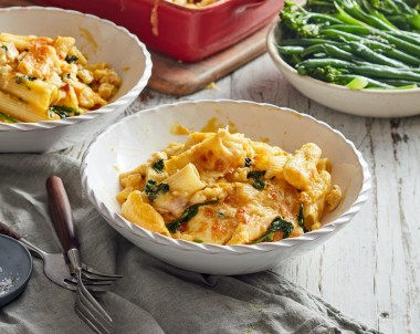 Chicken and Pumpkin Pasta Bake