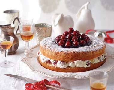 Victorian Tea Cake recipe with Cherry Cream Filling