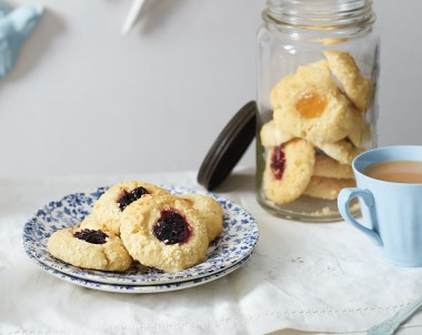 Coconut Jam Drop Cookies