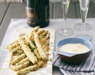 Crunchy Aioli Asparagus recipe