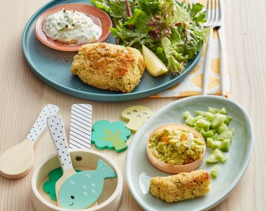 Crumbed fish for infants recipe