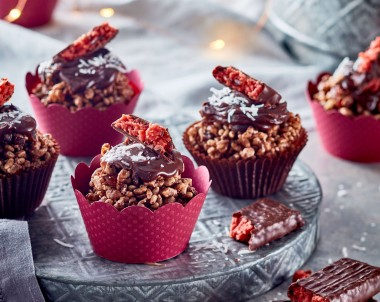 Cherry Ripe Chocolate Crackles recipe