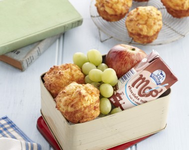 Cheesy Ham and Corn Puffs Kids lunchbox recipe