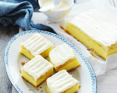 Iced Vanilla Custard Slice Recipe Devondale Cookbook