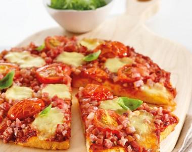 Bacon and Baby Mozzarella Pizza