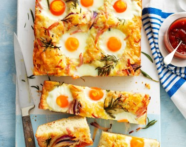 Bacon, Egg and Cheese Breakfast focaccia recipe