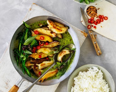 Australian Abalone recipe in Green Curry