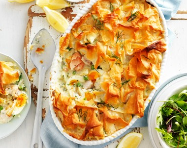 Best fish pie recipe with pastry top