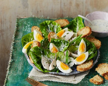 Egg and Chicken Caesar Salad Recipe