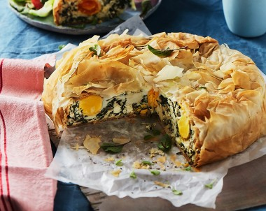Egg Pie with Silver Beet and Ricotta