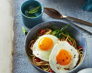 Ramen Noodles with Fried Eggs