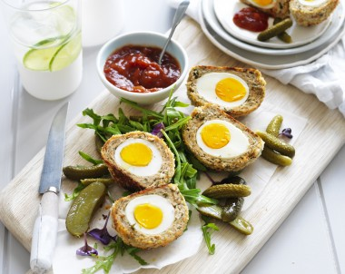 Baked Chicken Scotch Eggs