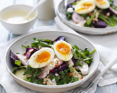 Egg and Chicken Salad Bowl