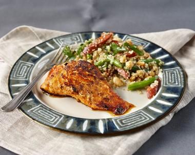 Salmon with Quinoa Salad recipe