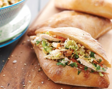 Roast Chicken Asian Slaw Buns